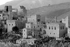 老希腊村庄 免版税库存照片