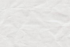 老干净的水平的被回收的概略的白色有斑纹的纸纹理或背景 库存图片