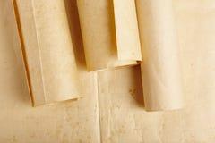 老年迈的空白滚动的羊皮纸 古色古香的文件 葡萄酒人 免版税库存照片