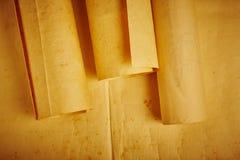 老年迈的空白滚动的羊皮纸 古色古香的文件 葡萄酒人 免版税库存图片