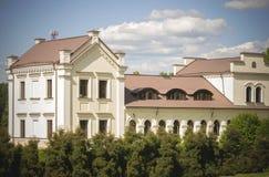 老庄园槽枥,现在立陶宛自然博物馆和行政办公室,维尔纽斯 库存照片