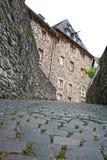 老废墟monschau 免版税库存照片