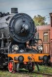 老废弃的煤炭蒸汽机车 库存图片