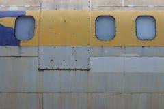老废弃的飞机在清迈,泰国10 库存照片
