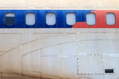 老废弃的飞机在清迈,泰国11 免版税库存图片