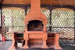 老庭院加热器 格栅能用为BBQ 库存图片