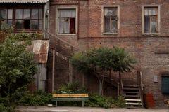 老庭院 图库摄影