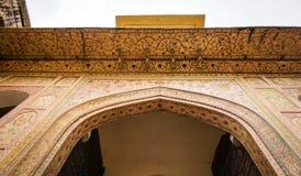 老建筑学在斋浦尔,印度 库存图片