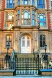 老建筑学的储蓄图象在诺丁汉,英国 免版税库存照片