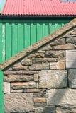 老建筑材料 Lerwick,舍德兰群岛,苏格兰,英国 免版税库存图片