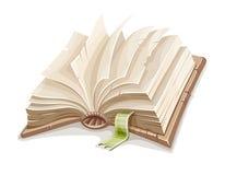 老开放书涂与白纸 向量例证