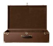 老开放手提箱 免版税库存照片