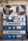 老开盘式的录音机 被过滤的图象 库存照片