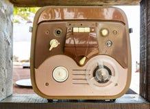老开盘式的录音机 免版税库存图片