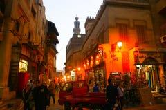 老开罗在晚上 免版税图库摄影