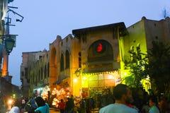 老开罗在晚上 图库摄影