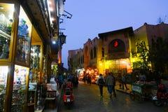 老开罗在晚上 库存图片