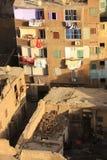 老开罗形式清真寺尖塔看法  库存图片