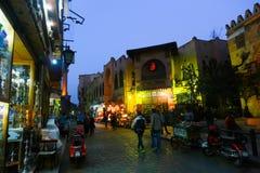 老开罗,埃及夜  库存图片