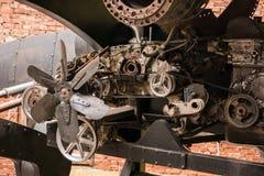 老引擎的零件 免版税库存图片