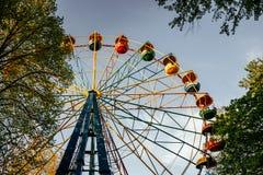 老弗累斯大转轮和春天公园 免版税图库摄影