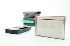 老录象机用磁带为录音 免版税库存图片