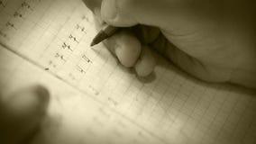 老影片作用:学生做他的在文字数字的第一步 影视素材
