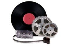 老影片小条,胶片,纪录 免版税图库摄影