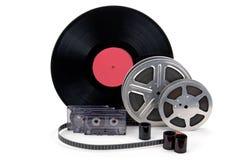 老影片小条,胶片,纪录 库存照片