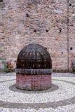 老很好在威岑扎省的里面马罗斯蒂卡的中世纪城堡在威尼托(意大利) 免版税图库摄影