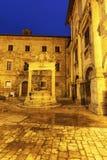 老很好在广场重创在蒙特普齐亚诺 免版税库存照片