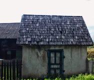 老微型房子 免版税库存图片