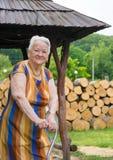 老微笑的妇女 免版税库存照片