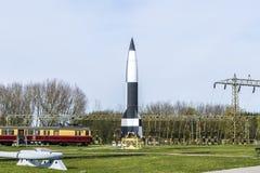 老德国人WW2 V2火箭工厂 免版税库存照片