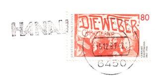 老德国邮票 库存图片