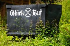 老德国采矿无盖货车 免版税库存图片