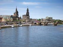 老德累斯顿都市风景  库存图片
