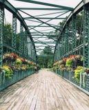老德雷克小山花桥梁在康涅狄格 图库摄影