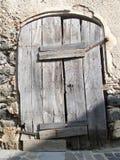 老恶化的木门 库存照片