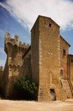老意大利城堡在托斯卡纳 库存图片