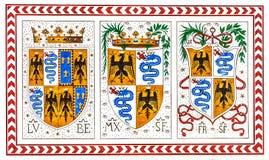 老意大利徽章骑士定货的,米兰,意大利 库存照片