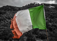 老意大利旗子 免版税库存图片