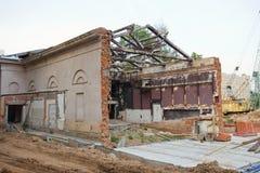 老戏院大厦在米斯克,白俄罗斯 库存图片