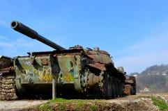 老战争坦克在Bosni和黑塞哥维那 库存照片