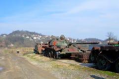 老战争坦克在Bosni和黑塞哥维那 免版税库存图片