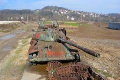 老战争坦克在Bosni和黑塞哥维那 图库摄影