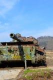 老战争坦克在Bosni和黑塞哥维那 免版税库存照片