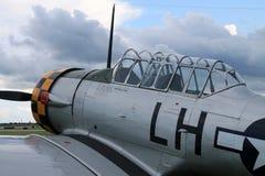 老战斗机美国平面驾驶舱关闭 免版税图库摄影