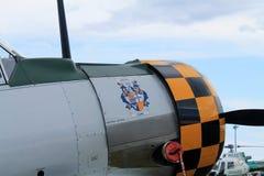 老战斗机美国平面细节 库存照片