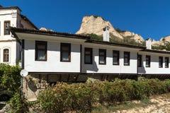 老房子从19世纪在梅利尼克,保加利亚镇  图库摄影